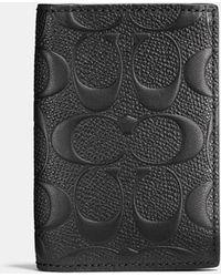COACH - Bifold Card Case In Signature Crossgrain Leather - Lyst