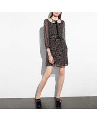 COACH - Duck Print Semi-sheer Dress - Lyst