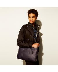 COACH - Metropolitan Soft Brief In Refined Pebble Leather - Lyst