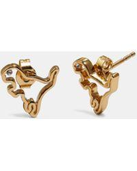 COACH - Demi-fine Cutout Rexy Earrings - Lyst