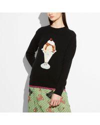 COACH - Sundae Intarsia Sweater - Lyst