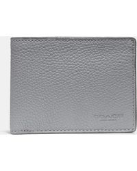 3f2f0a758b0b Lyst - COACH Slim Billfold Wallet In Signature Leather in Brown for Men