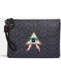 COACH - Viper Room Turnlock Pouch In Signature Canvas - Lyst