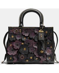 COACH - Rogue 25 In Glovetanned Pebble Leather With Tea Rose - Lyst