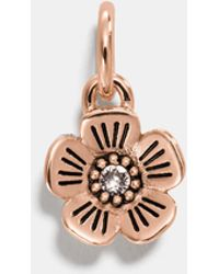 COACH - Willow Floral Charm - Lyst