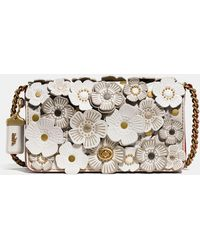 dacdc71d6ad2 COACH - Tea Rose Applique Dinky Crossbody In Leather - Lyst