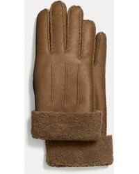 COACH - Shearling Glove - Lyst
