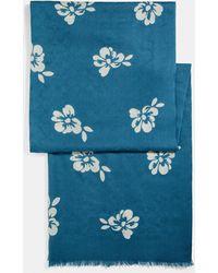 COACH - Floral Bow Print Signature Stole - Lyst