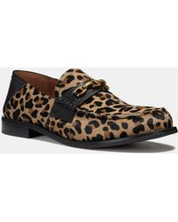 011d425be28 COACH - Putnam Loafer With Leopard Print - Lyst
