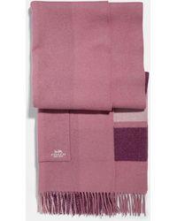 COACH - Oversized Plaid Blanket Scarf - Lyst