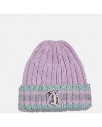COACH - Selena Knit Hat With Bunny - Lyst