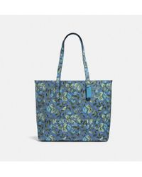 32ae515412644 COACH - Highline Tote With Floral Print - Lyst