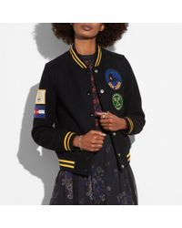 COACH - Military Patch Varsity Jacket - Lyst