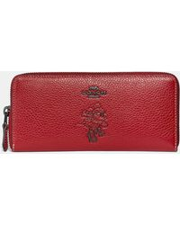 COACH - Boxed Minnie Mouse Slim Accordion Zip Wallet With Motif - Lyst