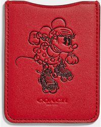 COACH - Minnie Mouse Rollerskate Phone Pocket Sticker - Lyst