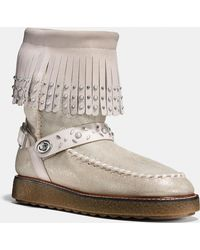 COACH - Roccasin Shearling Boot - Lyst