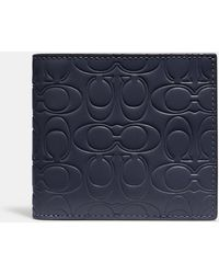 COACH - Double Billfold Wallet In Signature Leather - Lyst