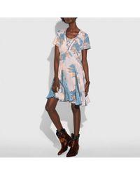 COACH - Dreamy Floral Print Pleated Dress - Lyst