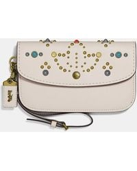 COACH - Clutch With Rivets - Lyst