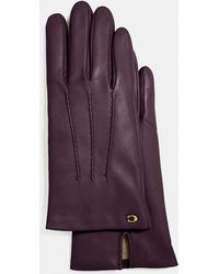 COACH - Sculpted Signature Short Leather Gloves - Lyst