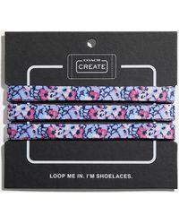 COACH Floral Print Shoe Laces - Blue