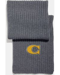 COACH - Signature Patch Knit Scarf - Lyst