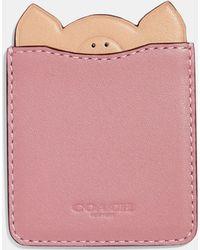 COACH - Pig Phone Pocket Sticker - Lyst