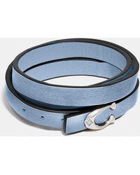 COACH Signature Bracelet - Blue