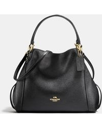 COACH - Edie Shoulder Bag 28 In Polished Pebble Leather - Lyst