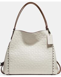 COACH - Edie Shoulder Bag 31 In Signature Leather With Rivets - Lyst