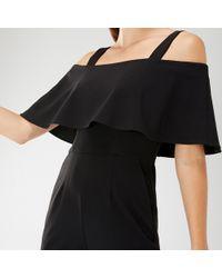 db04e3432f37 Coast Selena Stripe Jumpsuit in Black - Lyst