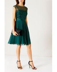 Coast | Lori Lee Cluster Short Dress | Lyst