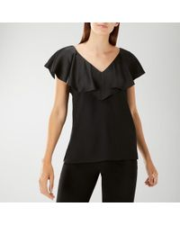 Coast - Black 'beau' Ruffle Top - Lyst