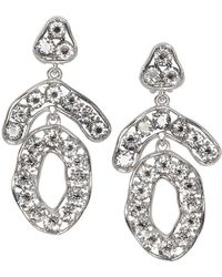 Kenneth Jay Lane - Triangle And Circle Drop Clip Earrings - Lyst