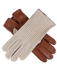 Dents Lesley Crochet Driving Gloves - Brown