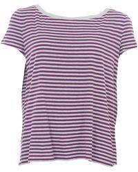 GANT - Short Sleeve Stripe Knit Top - Lyst