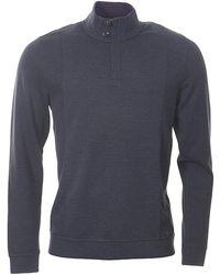 Ted Baker - Lavern Funnel Neck Quarter Zip Sweatshirt - Lyst