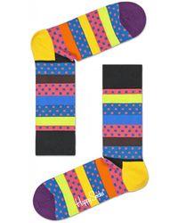 Happy Socks - Dotted Stripe Socks - Lyst