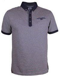 Raging Bull - Fine Stripe Jersey Polo Shirt - Lyst