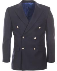 Brook Taverner - Reigate Double Breasted Blazer - Lyst
