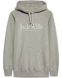 Jack Wills - Borrowfield Longline Hoodie - Lyst