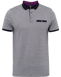 Ted Baker - Morrow Patterned Polo Shirt - Lyst