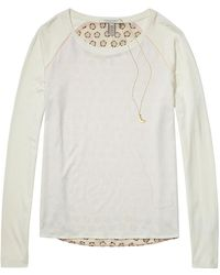 Scotch & Soda - Long Sleeve T-shirt With Printed Back - Lyst