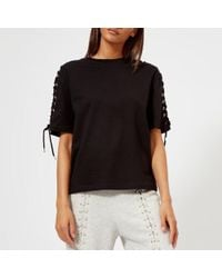 McQ - Women's Laced Long Sleeve Top - Lyst