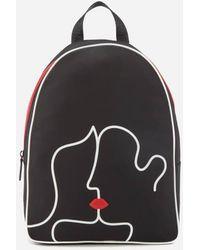 Lulu Guinness   Women's Kissing Lips Backpack   Lyst