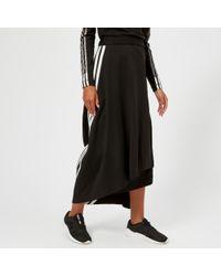 Y-3 - Y3 Women's 3 Stripe Drape Skirt - Lyst