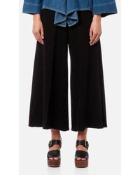 MM6 by Maison Martin Margiela - Women's Structured Twill Jersey Trousers - Lyst