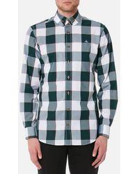 Vivienne Westwood - Men's Butcher Stripe 2 Button Gingham Krall Shirt - Lyst