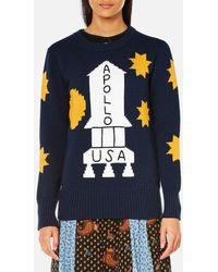 COACH - Women's Space Intarsia Sweatshirt - Lyst