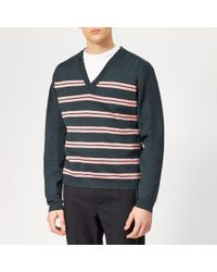 0841407115 Lyst - Lanvin Striped Wool And Cashmere-blend Cable-knit Sweater in ...